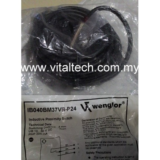 Wenglor Proximity Sensor IB040BM37VB-P24